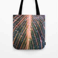 Plant with rain drops  Tote Bag