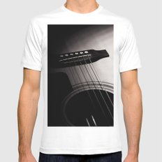 Guitar MEDIUM White Mens Fitted Tee