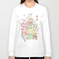 animal crossing Long Sleeve T-shirts featuring Animal Crossing (yellow) by Siri