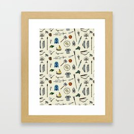 Lord of the pattern Framed Art Print