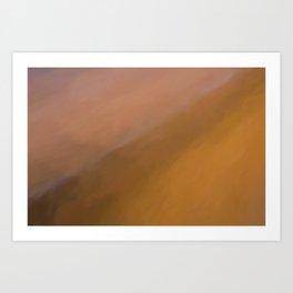 Abstract Orange Shades.   Like painted on canvas. Art Print