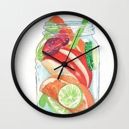 Refreshing Jar with Twisty Straw Wall Clock