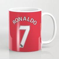 ronaldo Mugs featuring Set of Seven: Ronaldo 7 by Crewe Illustrations