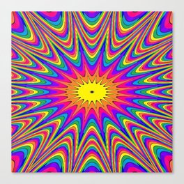 rainbow stripes star explosion Canvas Print