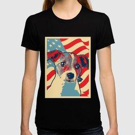Patriotic Jack Russell Dog American Flag Pet Lover T-shirt