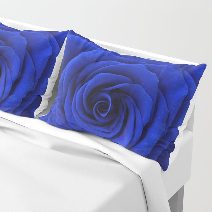 blue rose Pillow Sham
