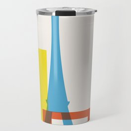 Shapes of Paris. Accurate to scale. Travel Mug