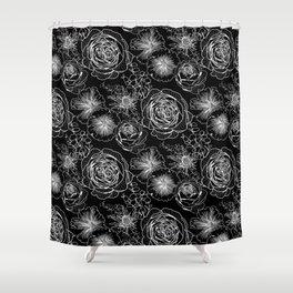 ENGLISH GARDEN FLOWERS PATTERN Shower Curtain