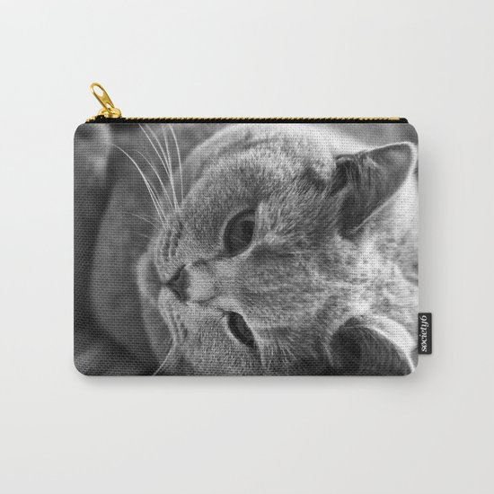 Cat Black white 3 Carry-All Pouch