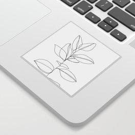 One line plant illustration - Dany Sticker