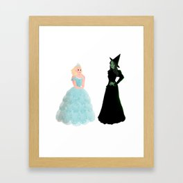 Elphaba and Glinda Framed Art Print