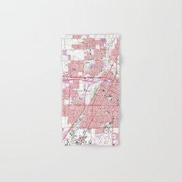 Vintage Map of Las Vegas Nevada (1967) 3 Hand & Bath Towel