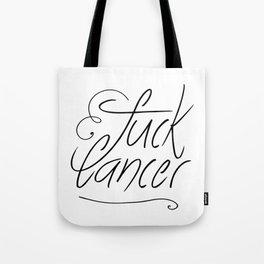 Fuck Cancer Print Tote Bag