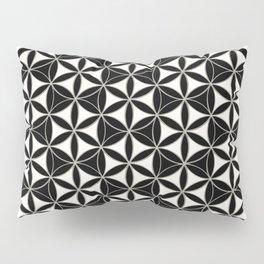 Flower of Life Pattern black-white Pillow Sham
