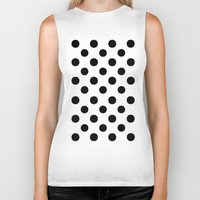 polka dots Biker Tanks featuring Polka Dots (Black/White) by 10813 Apparel