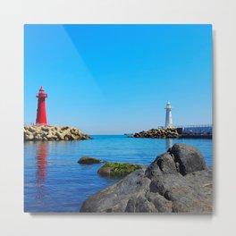 Lighthouses at Busan Metal Print