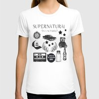 acdc T-shirts featuring Supernatural in a Nutshell by Katie Gaughan