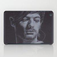 louis tomlinson iPad Cases featuring Louis Tomlinson IV by Jen Eva