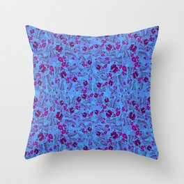 Blooming Purple Throw Pillow