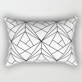 Black and White Geometric Pattern Rectangular Pillow