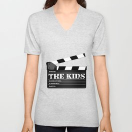 The Kids Clapperboard Unisex V-Neck