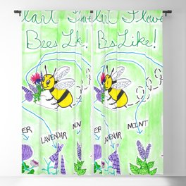Plant Flowers Bees Like Blackout Curtain
