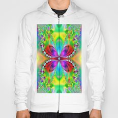Abstract Jewel Butterfly  Hoody