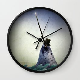 Pinky the Narwhal Wall Clock