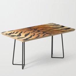 Faux Siberian Tiger Skin Design Coffee Table