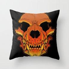 Werewolf skull Throw Pillow