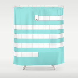 (very) Long Toilet Paper Shower Curtain