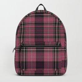 Pink Tartan Print Backpack