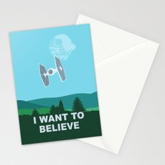 I WANT TO BELIEVE - Star Wars Stationery Cards