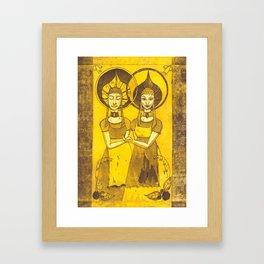 Jumelles Framed Art Print