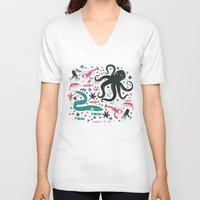 sea V-neck T-shirts featuring Sea Patrol by Anna Deegan
