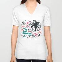 micklyn V-neck T-shirts featuring Sea Patrol by Anna Deegan