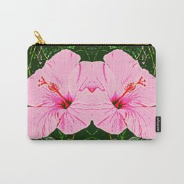 Hibiscus Duo - Pink Flowers Carry-All Pouch