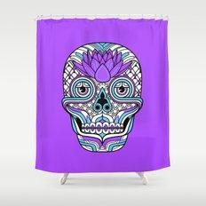 Lotus Skull Shower Curtain