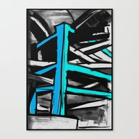 concrete Canvas Prints featuring Concrete by Jonas Ericson