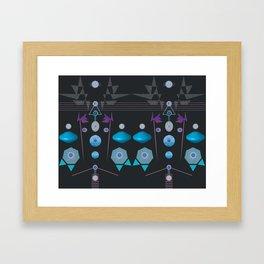 Journey To Inner Harmony geometric design Framed Art Print