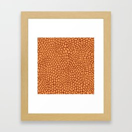 Reptile Pattern Rust and Peach Framed Art Print