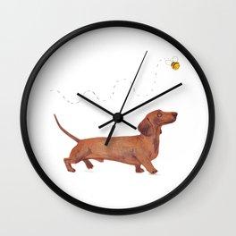 Dachshund Sausage dog Wall Clock