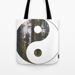 Yin Yang Forest Tote Bag
