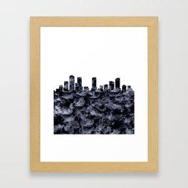 Denver Skyline Colorado Framed Art Print