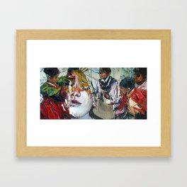 Girl Play (여놀이) Framed Art Print