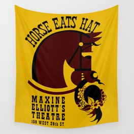 Horse eats hat Wall Tapestry