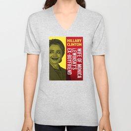 Hillary Clinton Is Scary Unisex V-Neck