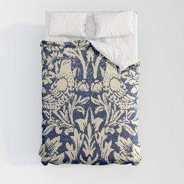 Brother Rabbit - Sand on Navy, William Morris Comforters