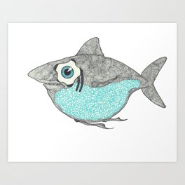 Fat Shark Art Print