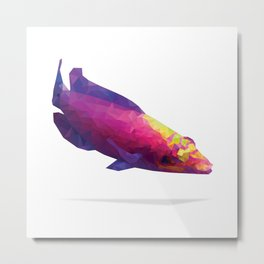 Geometric Abstract Mystery Wrasse Metal Print